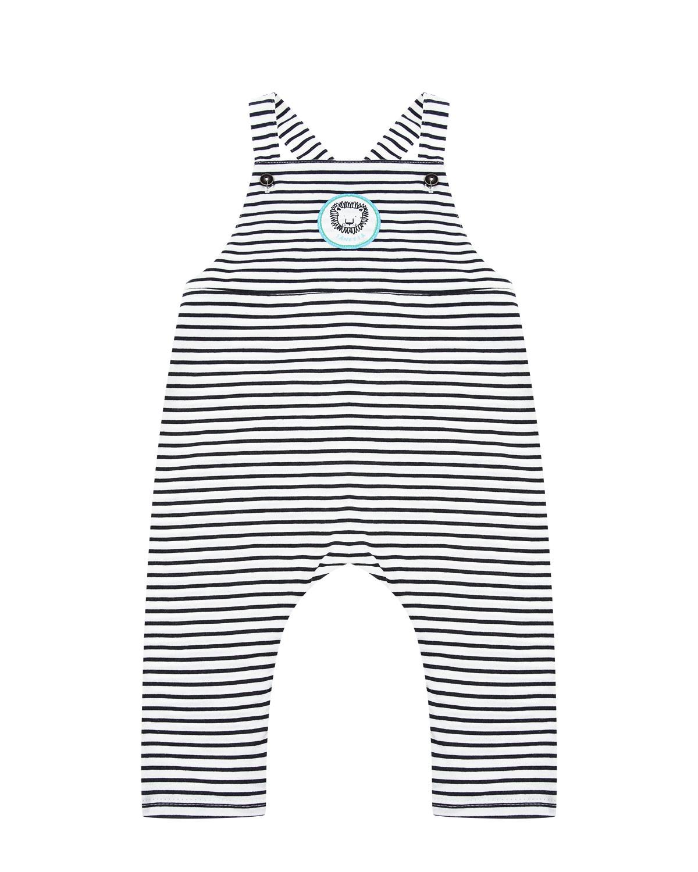 Купить Полукомбинезон с принтом в полоску Sanetta Kidswear детский, Белый, 100%хлопок
