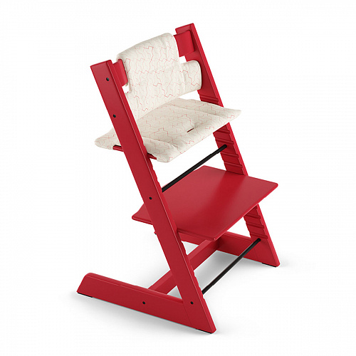 Подушка для стульчика Tripp Trapp, geometric red (organic cotton) Stokke